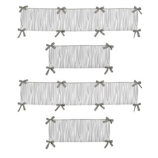Sweet Jojo Designs Grey and White Woodsy Collection Baby Crib Bumper Pad