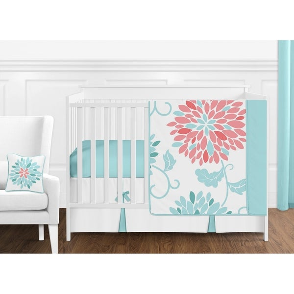 Shop Sweet Jojo Designs Turquoise And Coral Floral Emma