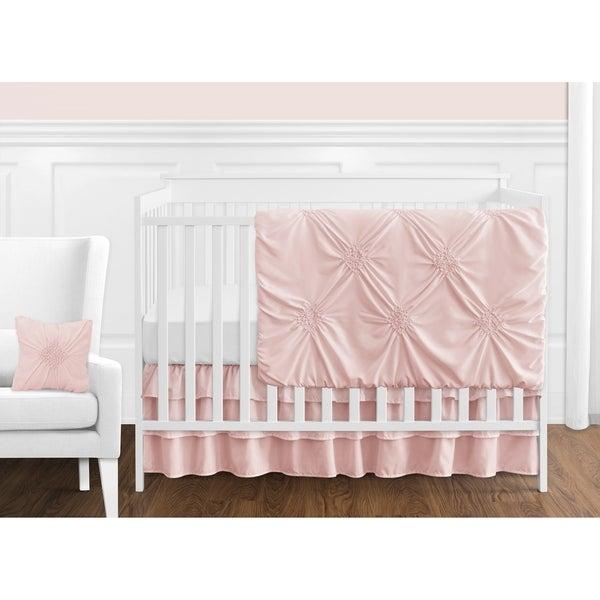 Sweet Jojo Designs Blush Pink Shabby Chic Harper Collection Girl 11-piece Bumperless Crib Bedding Set