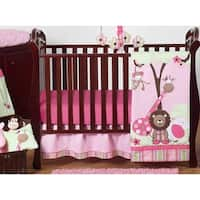 Sweet Jojo Designs Animal Jungle Friends 11-piece Bumperless Crib Bedding Set