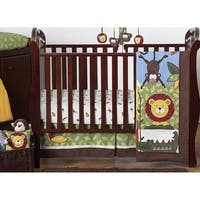 Sweet Jojo Designs Animal Jungle Time 11-piece Bumperless Crib Bedding Set