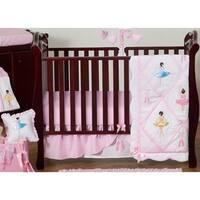 Sweet Jojo Designs Pink Ballerina 11-piece Bumperless Crib Bedding Set