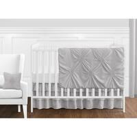 Sweet Jojo Designs Grey Shabby Chic Harper Collection Girl 11-piece Bumperless Crib Bedding Set