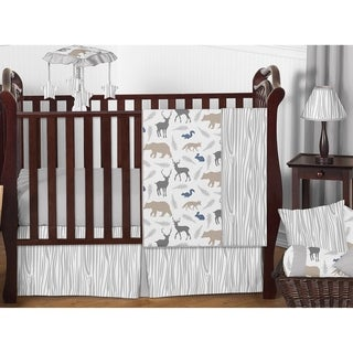 Sweet Jojo Designs Woodland Animals Collection Multicolored 11-piece Bumperless Crib Bedding Set