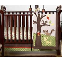 Sweet Jojo Designs Woodland Animal Forest Friends 4-piece Bumperless Crib Bedding Set