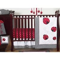 Sweet Jojo Designs Red and Black Little Ladybug 11-piece Bumperless Crib Bedding Set