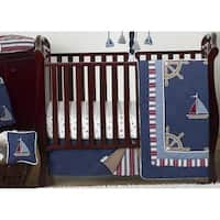 Sweet Jojo Designs Nautical 11-piece Bumperless Crib Bedding Set
