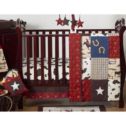Sweet Jojo Designs Wild West Cowboy 11-piece Bumperless Crib Bedding Set