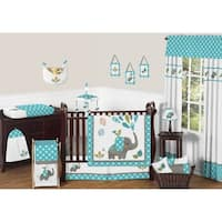 Sweet Jojo Designs Mod Elephant Collection 11-piece Bumperless Crib Bedding Set