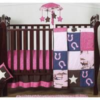 Sweet Jojo Designs Western Cowgirl 4-piece Bumperless Crib Bedding Set