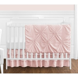 Sweet Jojo Designs Blush Pink Shabby Chic Harper Collection Girl 4-piece Bumperless Crib Bedding Set
