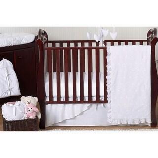 Sweet Jojo Designs White Eyelet 11-piece Bumperless Crib Bedding Set