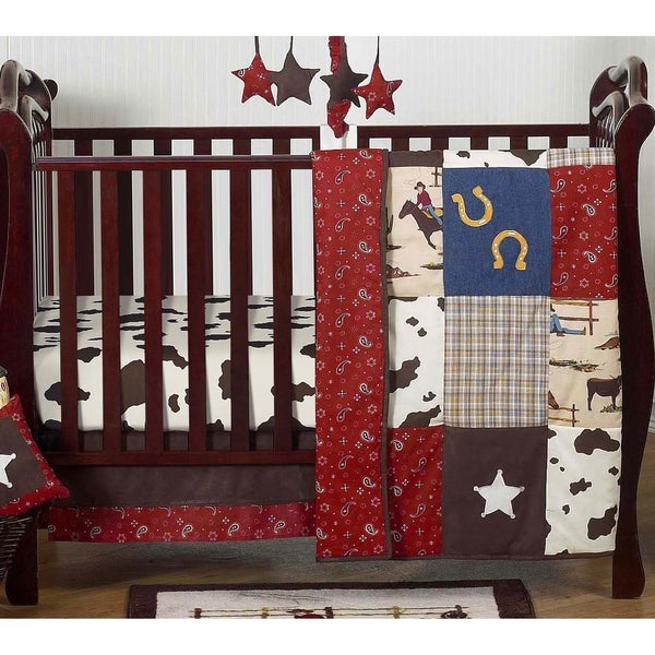 Sweet Jojo Designs Wild West Cowboy 4-piece Bumperless Crib Bedding Set
