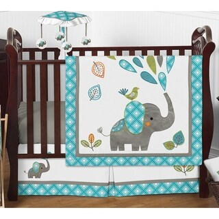 Sweet Jojo Designs Mod Elephant Collection 4-piece Bumperless Crib Bedding Set