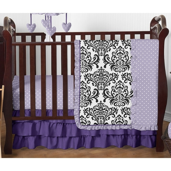 Sweet Jojo Designs 4-piece Bumperless Crib Bedding Set for the Sloane Collection