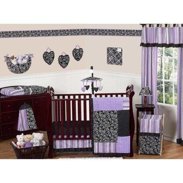 Shop Sweet Jojo Designs Purple Black And White Damask
