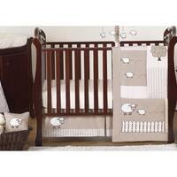 Sweet Jojo Designs Taupe Little Lamb 11-piece Bumperless Crib Bedding Set