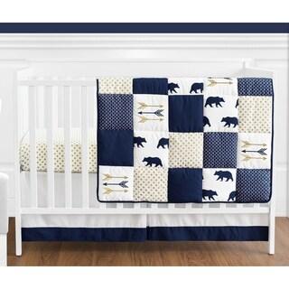 Sweet Jojo Designs Big Bear Collection 4-piece Bumperless Crib Bedding Set