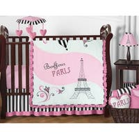 Sweet Jojo Designs Paris 11-Piece Bumperless Crib Bedding Set