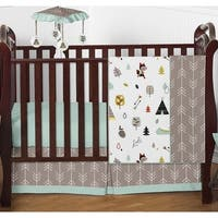Sweet Jojo Designs Outdoor Adventure Collection 4-piece Bumperless Crib Bedding Set