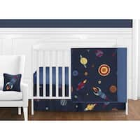 Sweet Jojo Designs Space Galaxy 11-piece Bumperless Crib Bedding Set