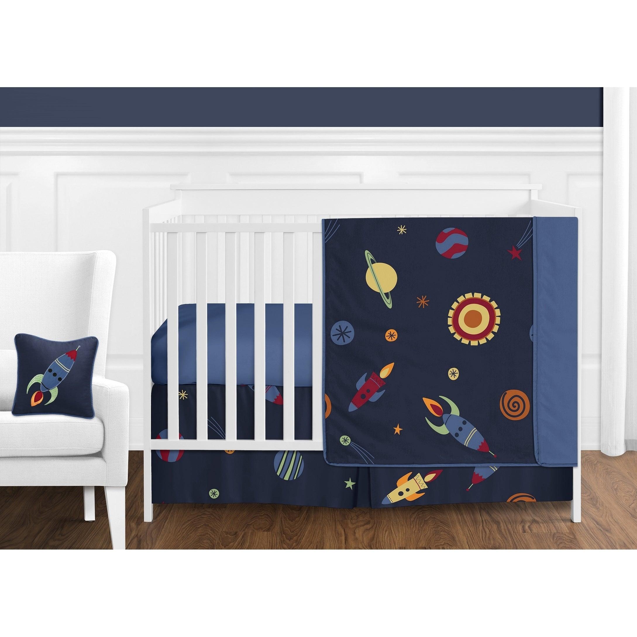 Sweet Jojo Designs Space Galaxy 11 Piece Bumperless Crib Bedding Set Overstock 20676722