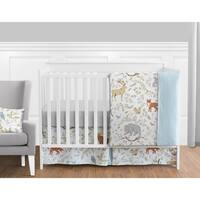 Sweet Jojo Designs Woodland Animal Toile Collection 11-piece Bumperless Crib Bedding Set