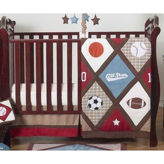 Sweet Jojo Designs All Star Sports 4-piece Bumperless Crib Bedding Set