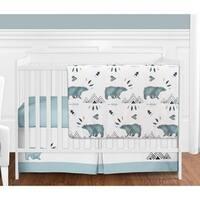 Sweet Jojo Designs Bear Mountain Collection 4-piece Bumperless Crib Bedding Set