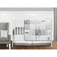 Sweet Jojo Designs Grey and White Woodsy Collection 11-piece Bumperless Crib Bedding Set