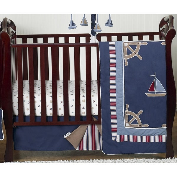 Shop Sweet Jojo Designs Nautical 4 Piece Bumperless Crib