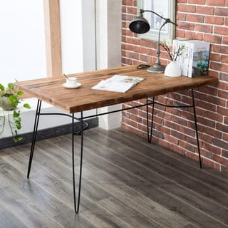 "Parkes 54"" Reclaimed Wood Desk"