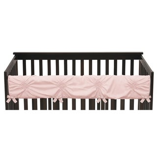 Sweet Jojo Designs Solid Color Blush Pink Shabby Chic Harper Collection Long Crib Rail Guard Cover
