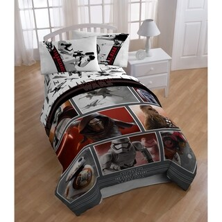 Star Wars Ep7 Live Action Red Reversible Twin Comforter