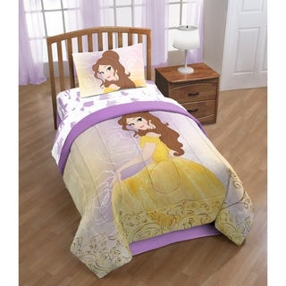 Disney Beauty & The Beast Belle En Rose Twin/Full Reversible Comforter