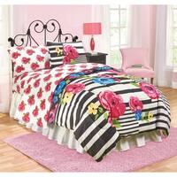 Just For Kids Floral Reversible Full Comforter