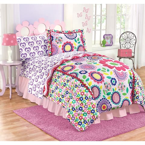 Just For Kids Floral Dream Medallion Reversible Twin/Full Comforter