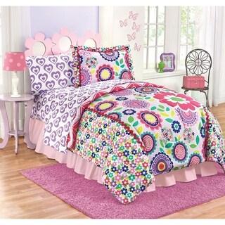 Just For Kids Floral Dream Medallion Reversible Twin/Full Comforter