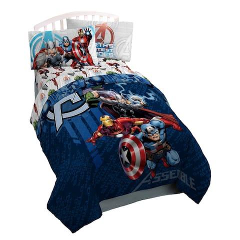 Marvel Avengers Earth's Might Reversible Oversize Twin Comforter