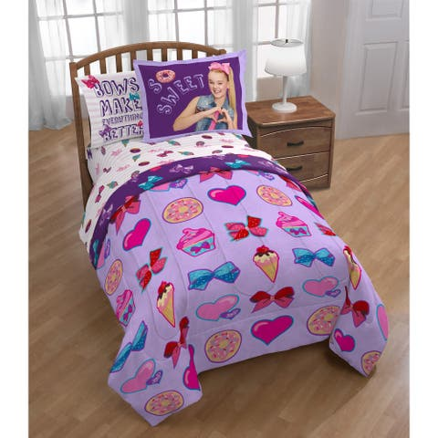 Nickelodeon JoJo Siwa Sweet Life Purple Oversize Twin 2-piece Comforter Set