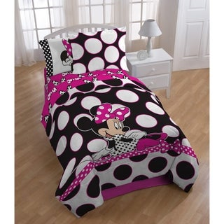Disney Minnie Mouse Dots are the New Black Twin 5-piece Bed In A Bag Set