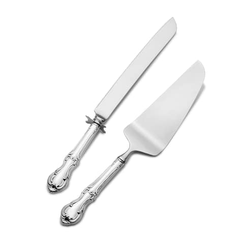 International Joan of Arc 2 Piece Cake Set - Silver