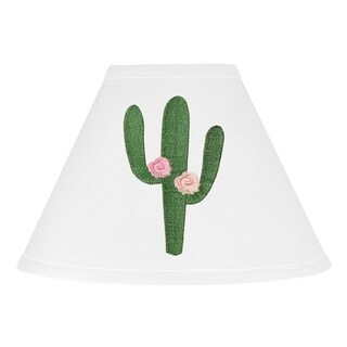 Sweet Jojo Designs Pink and Green Boho Cactus Floral Collection Lamp Shade