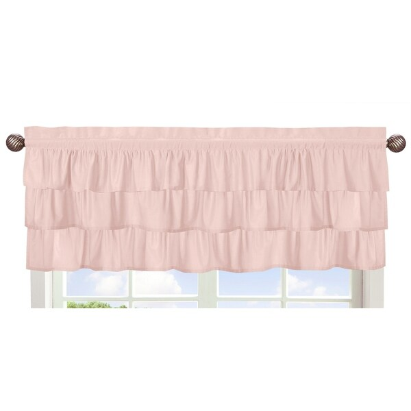 Sweet Jojo Designs Solid Color Blush Pink Shabby Chic Ruffle Harper Collection Window Curtain Valance Free Shipping On Orders Over 45