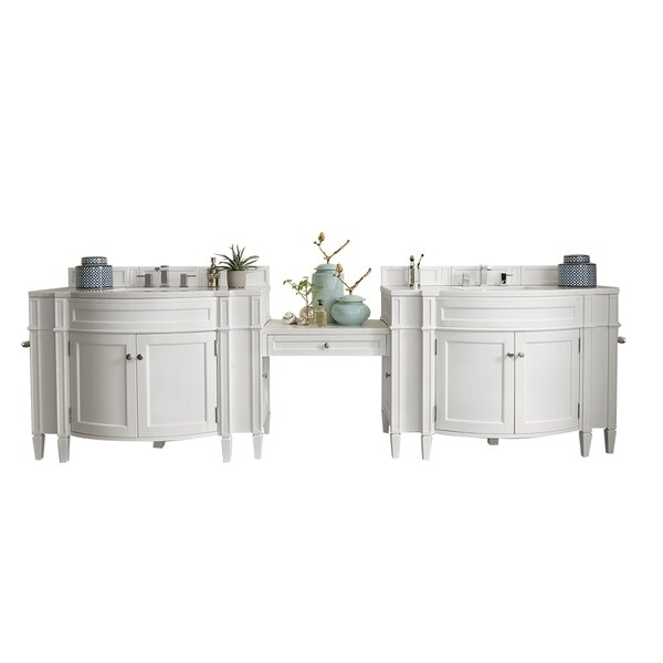 "Shop Brittany 118"" Double Vanity Set, Cottage White with ..."
