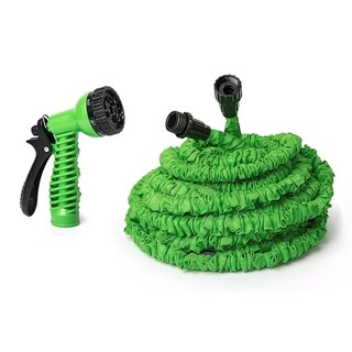 ALEKO Expandable Lawn Garden Hose 75 Foot 7-way Spray Nozzle Hose