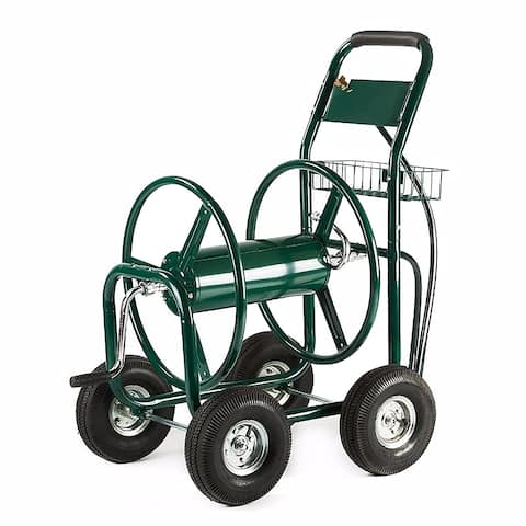 ALEKO Industrial Landscape Reel Hose Cart 4 Wheel 400 ft Hose Capacity