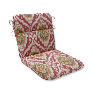 Pillow Perfect Outdoor / Indoor Ubud Coral Orange Rounded Corners Chair Cushion