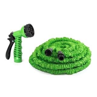 ALEKO Expandable Lawn Garden Hose 100 Foot 7-way Spray Nozzle Hose