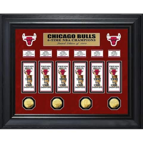 Chicago Bulls 6-Time NBA Champions Deluxe Gold Coin & Banner Collection